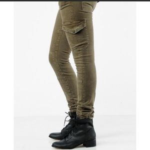 Current Elliot Skinny Combat Jeans